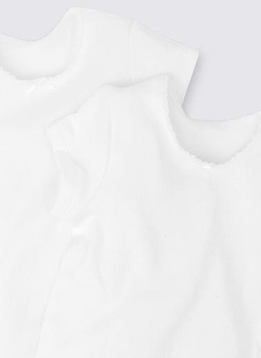Marks & Spencer 2'li Kısa Kollu Termal Atlet Beyaz